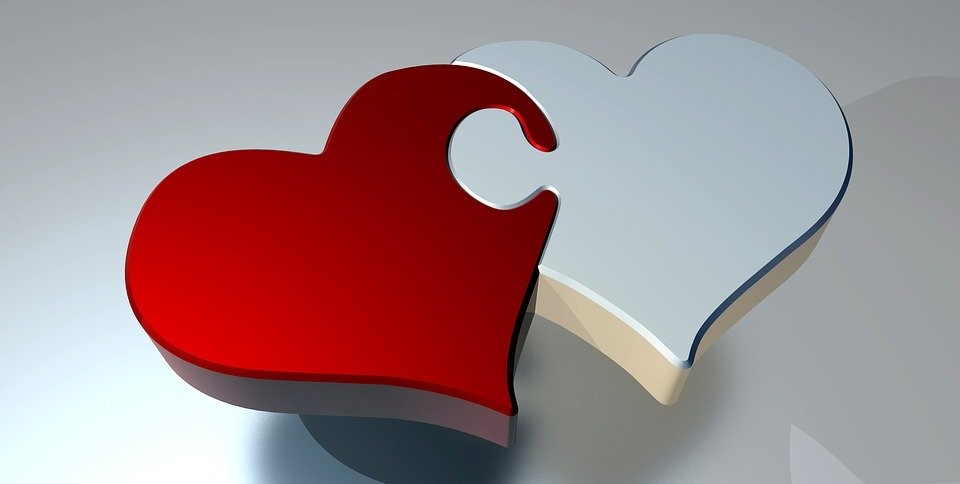 Puzzle, Corazón, Amor, Dos Corazones, Asociación