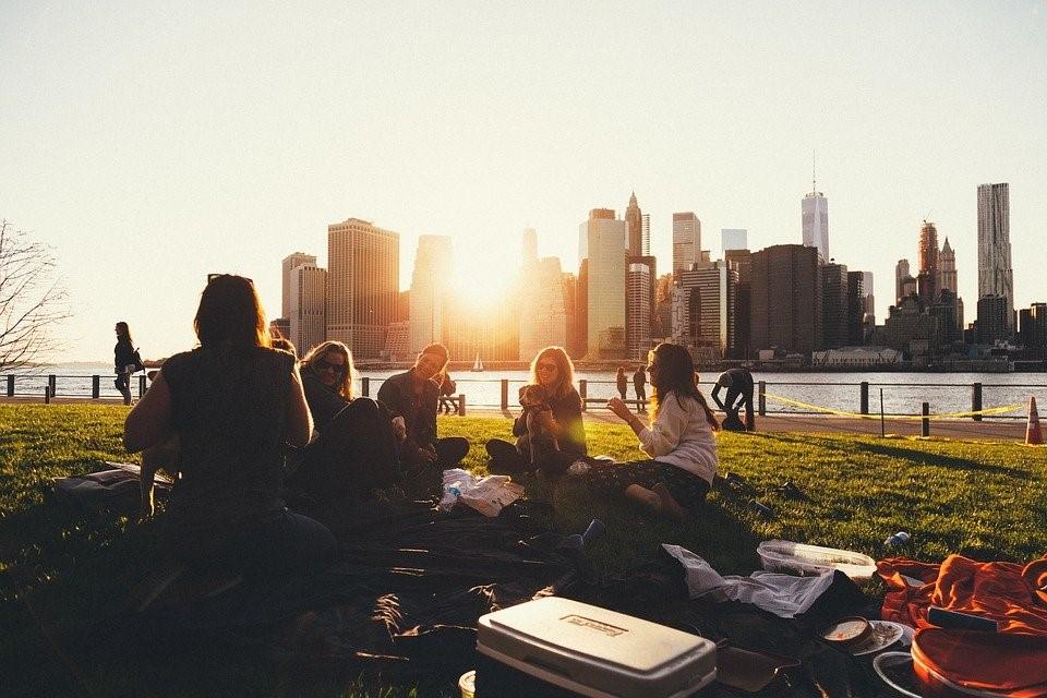 Picnic, Al Aire Libre, Grupo, Personas, Amigos, Social